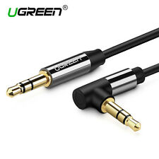 UGREEN 3.5mm Male to Male Angled Aux Stereo Audio Cable For PC Phone MP3 Car Tab