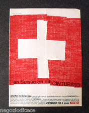 [GCG] P397 - Advertising Pubblicità -1968- CINTURATO PIRELLI , IN SVIZZERA
