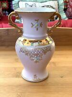 1950s Ardalt Linwile Japanese Export Pink Porcelain Bisque Vase Marked 6050