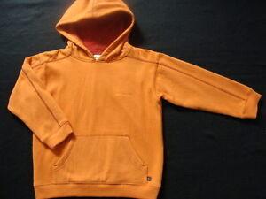 NWT Boys COLUMBIA Size 5 Hoodie Hollis Bay Sweatshirt Pullover Orange Cotton NEW