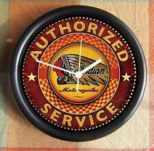 INDIAN MOTORCYCLE PARTS SERVICE  10 inch Resin Wall Clock