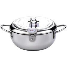 Tempura Fryer Pan + Thermometer Lid Stainless Steel Kitchen Nonstick Fryer Pot