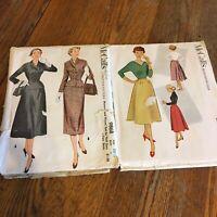 Vtg McCalls Printed pattern 1952 1954 9868 8967 Set 2 Suit Skirt retro graphics
