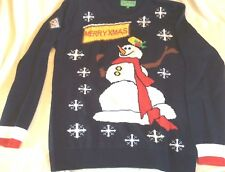 "Men's Jumper Christmas Snowman Design 48"" chest XL NEW"