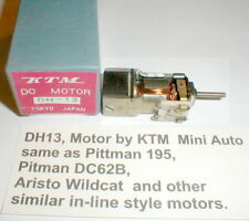 DH 13 In-Line Motor by KTM 5 pole armature Vintage slot car with Box 12 V NOS