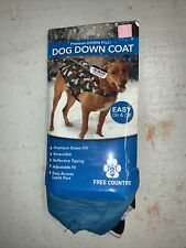 Free Country Dog Down Coat Small Teal/Silver