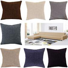 "Home Decoration New Plain Jacquard Cushion Covers Sofa Bed 18""x18"" UK Seller"