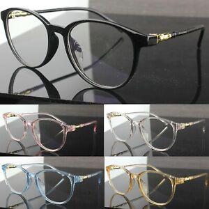 Classic Oval Clear Lens Fashion Glasses Slim Frame Womens Mens