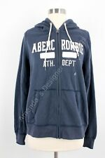 NWT Abercrombie And Fitch Women Logo Graphic Hoodie Navy Large
