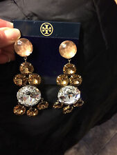 TORY BURCH Drop Sparkle Glam Earrings~Stunning!