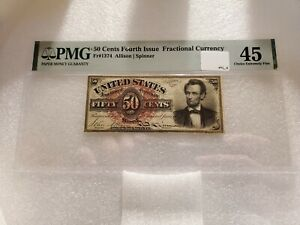 50 Cents Fourth Issue Fractional Currency PMG 45 Choice Extremely Fine