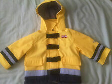 Oshkosh Bgosh Boys 12M Fireman Reflector Spring Raincoat.Excellent Plus!