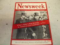 VINTAGE NEWSWEEK MAGAZINE MAY 20, 1940 WINSTON CHURCHILL