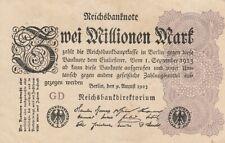 * Ro. 103a - 2 millones de Mark-Deutsches Reich - 1923-Fz: DG *