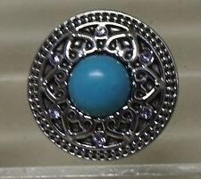 Celtic pattern 4 with Turquoise centre stone Noosa Style Snap Button