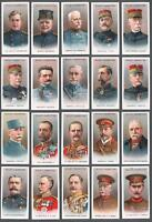 1917 Wills's Cigarettes Allied Army Leaders Tobacco Cards Complete Set of 50
