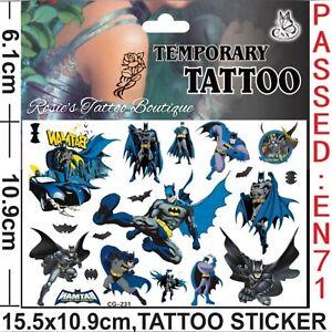 BATMAN Temporary Tattoos Boys Stocking fillers UK SELLER Kids Transfers Press On