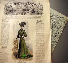 Modèles dans l/'annonce n°51//1894 PATRON COUTURE ANCIEN LA MODE ILLUSTREE