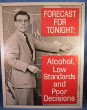 Weather Man Forecast Alcohol Low standards Metal Tin Sign beer liquor Usa made