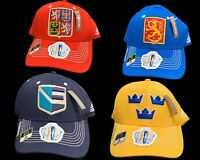 World Cup of Hockey 2016 Team Hats Finland Sweden Czech Europe Sz L/XL Climalite