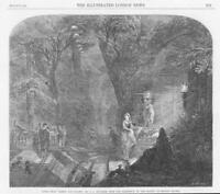 1864 FINE ART Antique Print -  Romeo Juliet Alfred Woolmer British Artist  (163)