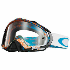 Maschera Oakley Mayhem Pro MX Tagline Orange Blue / Clear oo7051-10 Cross Enduro