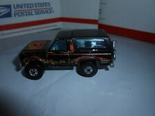 VTG 1982 HOT WHEELS MATTEL BLACK FORD BRONCO W/ CHROME MOTORCYCLE MALAYSIA