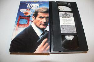 A View to a Kill (VHS 1985) Roger Moore, Christopher Walken, Tanya Roberts