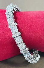 Designer Signed ADI Flexible Sterling Silver CZ Cuff Bracelet