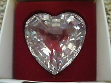 1996 Swarovski Silver Crystal Clear Heart Renewal Gift - Collectors Society