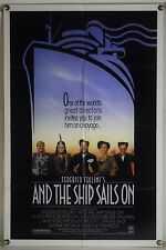 AND THE SHIP SAILS ON FF ORIG 1SH MOVIE POSTER FEDERICO FELLINI (1983)