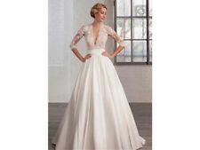 Gorgeous Deep V Lace Wedding Dress Bridal