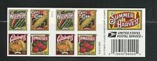 2015 #5007b Summer Harvest Complete Booklet of 20 with 5004-5007