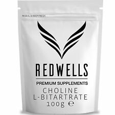 CHOLINE L-BITARTRATE 100g - PHARMA QUALITY - SAME DAY DESPATCH - WITH FREE SCOOP