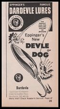 1976 Eppinger Eppinger's DEVIL DOG Fishing Lure Vintage PRINT AD Clipping