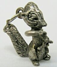 Disney FLOWER from Bambi Sterling Silver 1940's solid cast figural charm mint