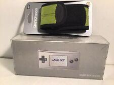 - NINTENDO Game Boy GameBoy Micro Gris Grey Argenté Silver - PAL + Housse