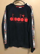 Rare Diadora vintage crewneck Jumper - L Large - New with tags navy sweater