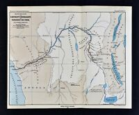 1877 Petermann's Mittheilungen - Stanley's Exploration Map of Congo River Africa