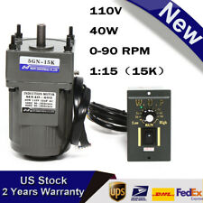 Ac Gear Motor Electric Ampvariable Speed Reduction Controller 0 90rpm Torque 15k