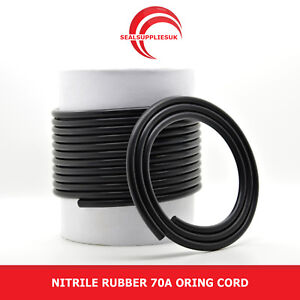Nitrile Rubber 70 O Ring Cord NBR 6MM Dia. - From 1 Metre Length [UK Supplier]