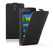 Membrane Huawei Y5 (Y560) Ultra Slim Case Black PU Leather Flip Phone Cover