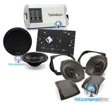 """pkg ROCKFORD FOSGATE HD14-TKIT FRONT AUDIO KIT + TMS69BL14 6X9"""" 6.5"""" SPEAKER NEW"""