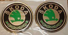 4X 70mm Wheel Center Hub Caps 3D Emblems for SKODA