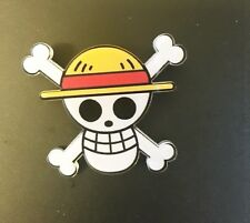 Japan Anime one Piece Luffy Cosplay Pirates  Straw Hat Skull Badge Pin Brooch