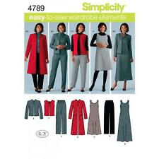 SIMPLICITY SEWING PATTERN Misses'/Plus Size Pants Vest Jacket Jumper 10-28W 4789