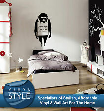 BANKSY MONKEY DECAL DECOR STICKER WALL ART GRAPHIC VARIOUS COLOUR