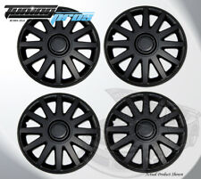 """17"""" Inch Snap On Matte Black Hubcap Wheel Cover Rim Covers 4pc, 17 Inches #610"""