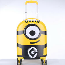 Minions Hard ABS Luggage Trolley Spinner Rolling Carryon Suitcase Travel Bag 18'
