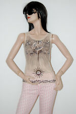 100% Authentic Jean Paul Gaultier Rare Safe Sex For Ever Tattoo Mesh Top